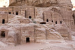 Ancient houses at Petra Jordan