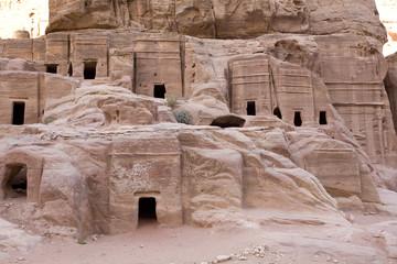 Ancient houses at Petra Jordan