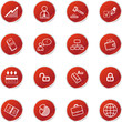 red sticker business icons