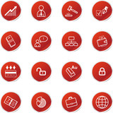 red sticker business icons poster