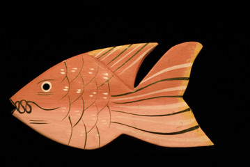 Wooden Red Fish