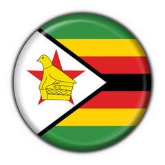 Zimbabwe button flag round shape