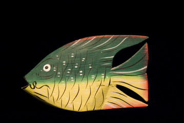 Wooden Green Fish
