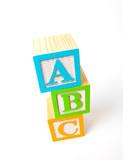 Wooden ABC blocks poster