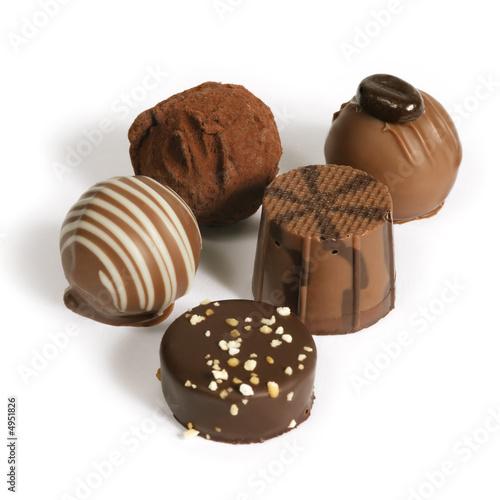 Fotobehang Snoepjes Chocolate gathering