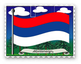 Briefmarke Montenegro poster