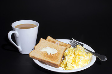 Eggs, Toast and Coffee