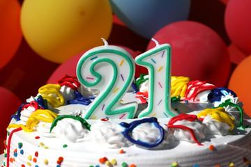 Birthday Cake - Twenty One