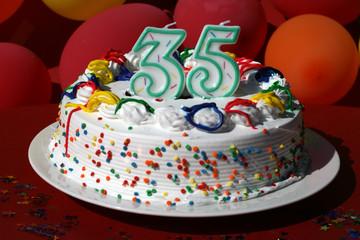 Birthday Cake - Thirty Five