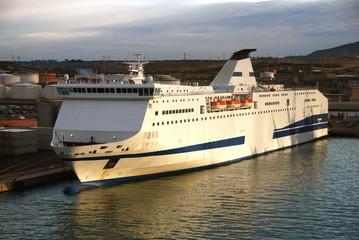 Passenger ferry boat departing