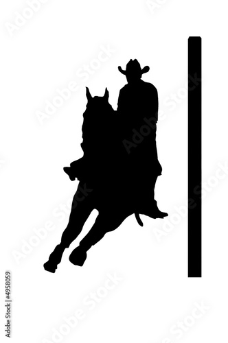 Photo: Cowgirl pole bending © Jinny #