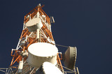 Telecommunication tower (space for text) poster
