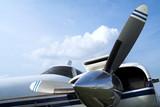 Business plane propeller Retro style poster
