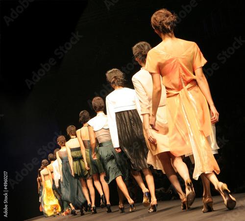 Leinwanddruck Bild Fashion show.