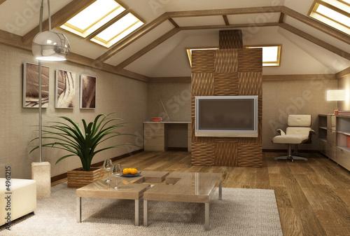 завершенный вид здания. скошенные потолки. использование мансардных окон, которые дороже обычных. увеличение жилой...