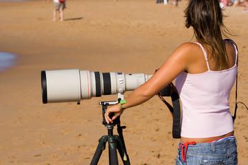 fotógrafo femenino
