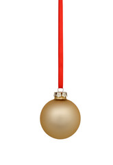 Glass Christmas ball isolated on white