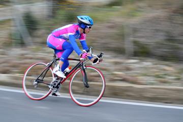 Cycliste en effet filé