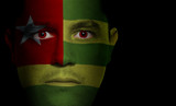 Togolese Flag - Male Face