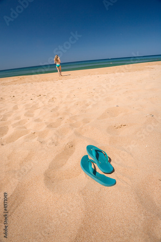 thongs in the sand