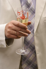 businessman with champagne glass