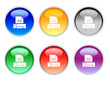 six color crystal print icons and buttons