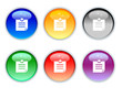 6 color crystal note icons for internet