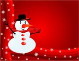 Snowman - Visiting-card poster