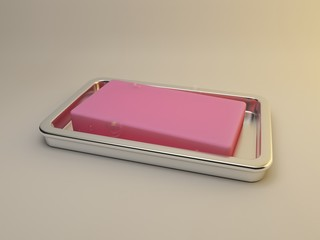 Render of pink soap