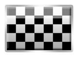 Chequered Flag glassy enamel badge poster
