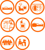 Brand New Home Rooms Icons poster
