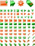 Brand New Green Orange Web Icon. part I. More In Portfolio. poster
