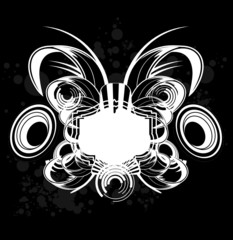 Black And White Grunge Royal Label