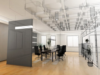 the modern office sketch