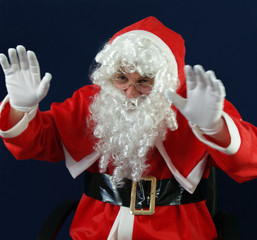 Santa waving Happy Christmas to everyone