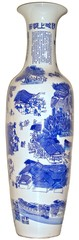 blue Chinese porcelain vase / blaue chinesiche Porzellan Vase