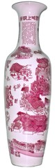 Red Chinese porcelain vase / rote chinesiche Porzellan Vase