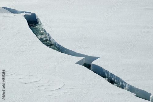 Leinwanddruck Bild Ice crack