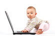 happy baby with laptop #13