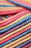 Closeup of colorful yarn poster