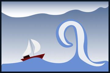 Barco en una tormenta