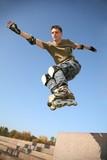 Fototapete Junge - Aktion - Beim Laufen / Springen
