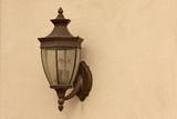 Beautiful Wall Lamp on Stucco Wall poster