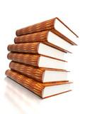 books massive on glossy white poster