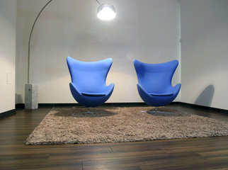 Two easy chairs