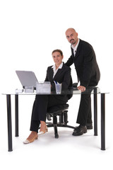 two office workers on workplace
