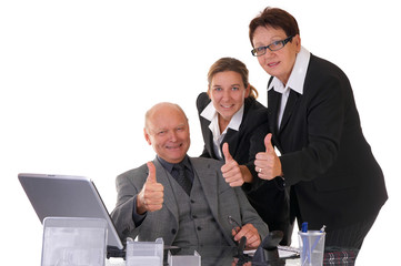 businessteam of three