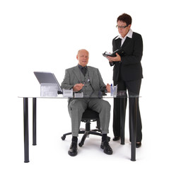 manager and secretary wideangle