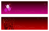 Festive Holidays & New Year Banners with copyspace poster