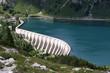 Reservoir Lago di Fedaia, Dolomiti, Italy